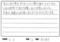 東大阪市 腰痛 16歳 K.Dさん